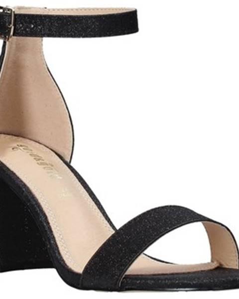 Čierne sandále Gold gold
