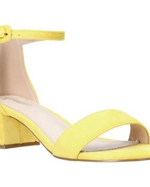 Žlté sandále Gold gold