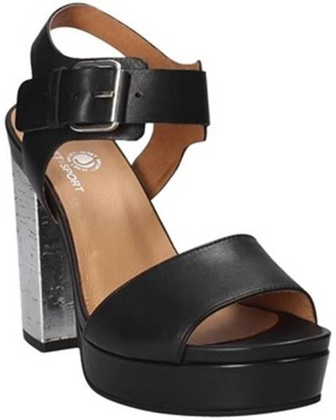 Čierne sandále Janet Sport