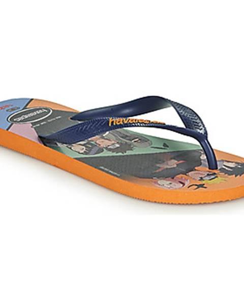 Oranžové topánky Havaianas