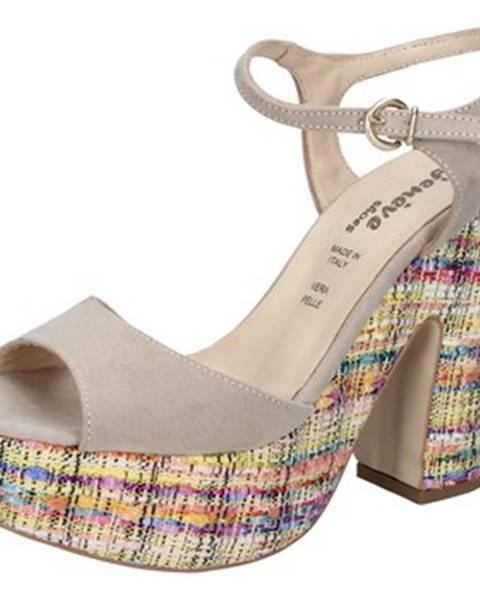 Béžové sandále Geneve Shoes