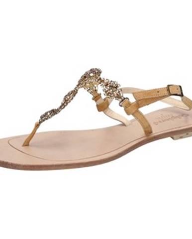 Hnedé sandále Calpierre