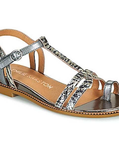 Strieborné sandále Karston