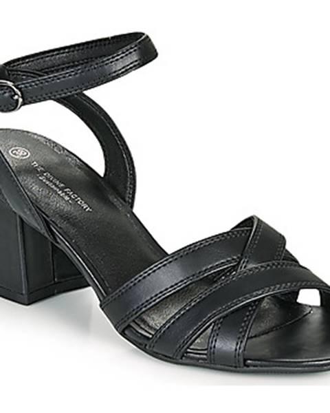 Čierne sandále The Divine Factory