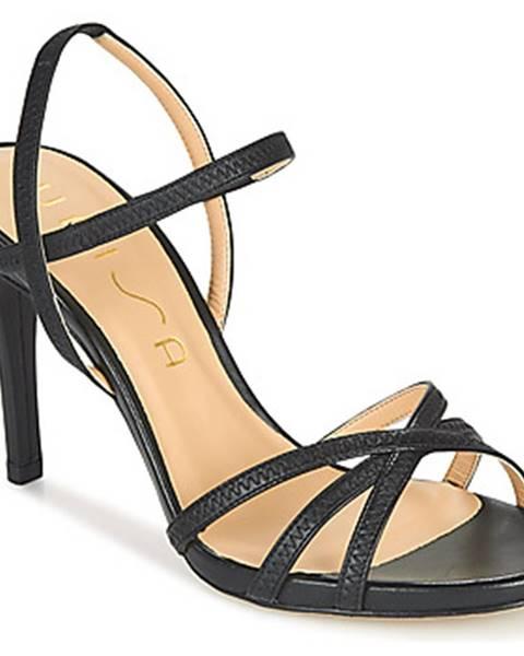 Čierne sandále Unisa