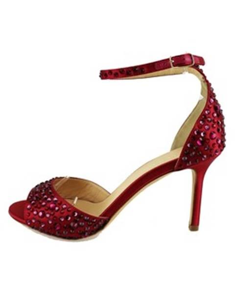 Červené sandále Lella Baldi