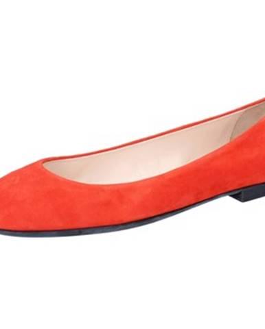 Oranžové balerínky Bally Shoes