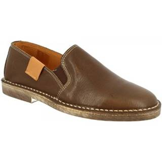 Slip-on Leonardo Shoes  1000 NAPPA MARRONE DONNA
