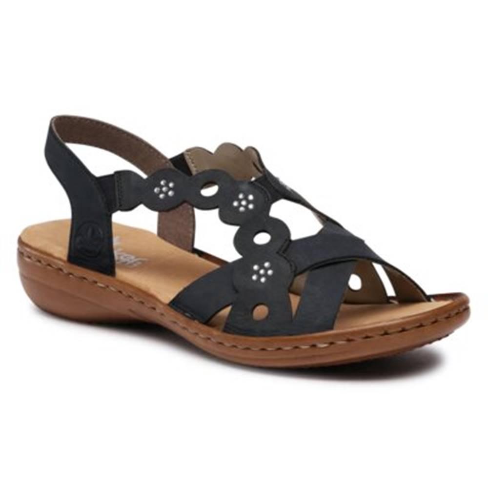 Rieker Sandále  60865-14 Prírodná koža(useň) - Nubuk