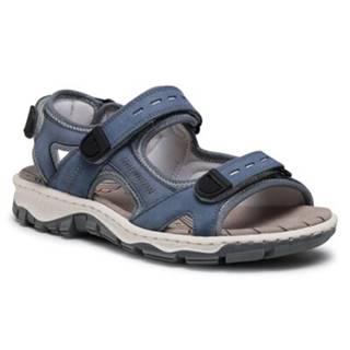 Sandále Rieker 68874-14 Prírodná koža(useň) - Zamš