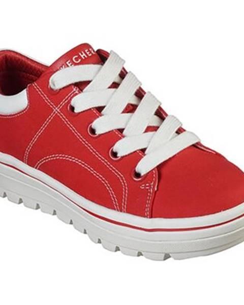 Červené tenisky Skechers