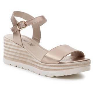 Sandále  2148-01 Prírodná koža(useň) - Lícova