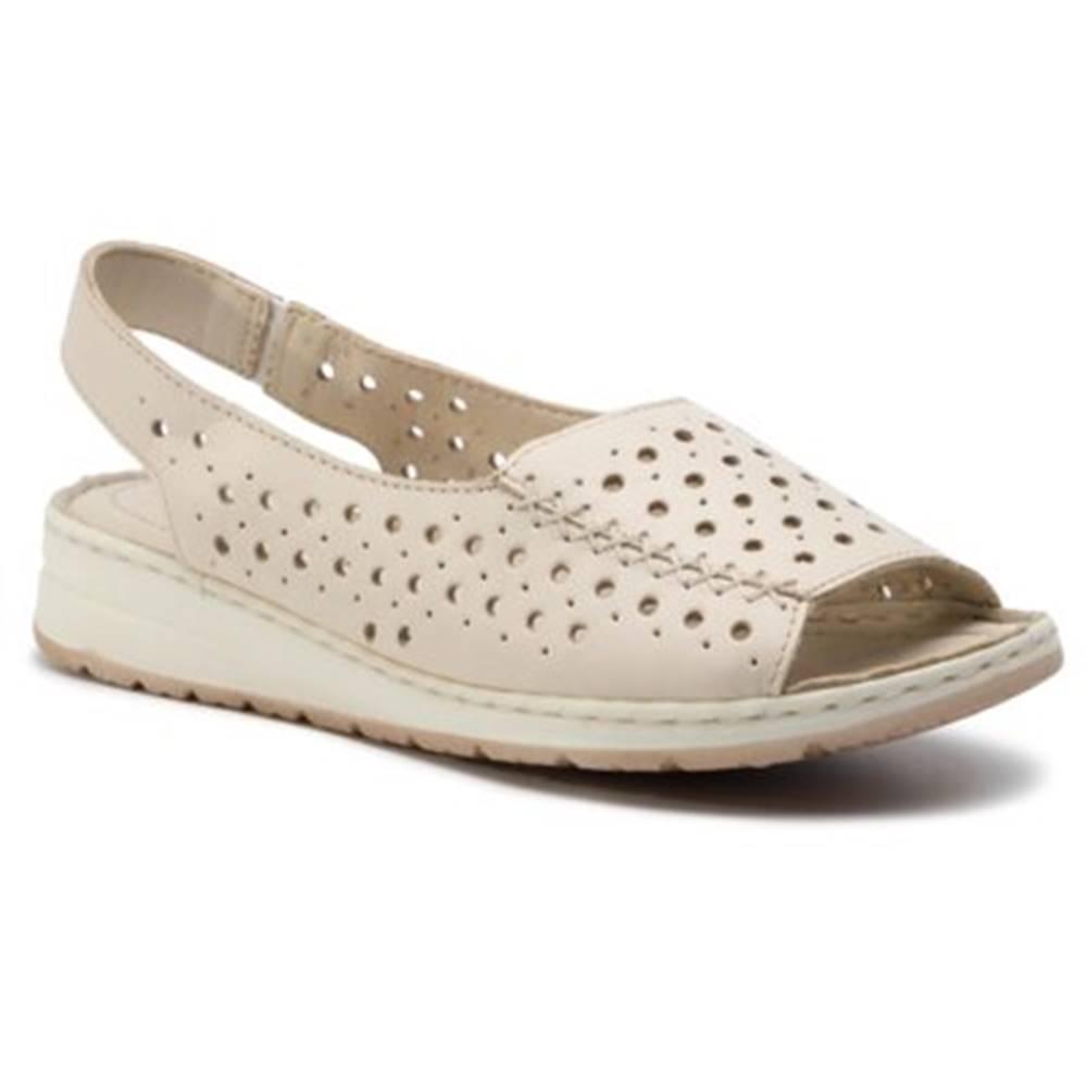 GO SOFT Sandále  WI20-LABONI-01 Prírodná koža(useň) - Lícova