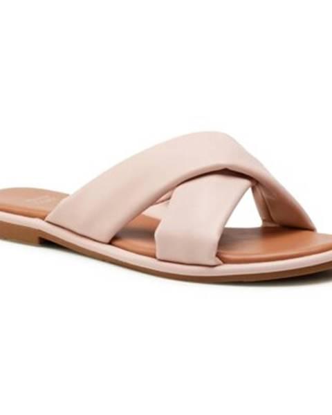Svetloružové topánky Jenny Fairy