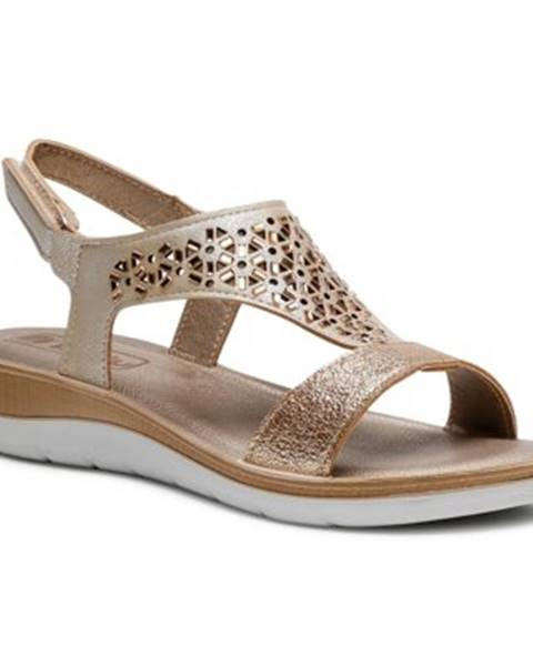 Zlaté sandále INBLU
