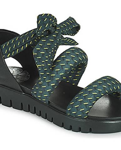 Modré sandále Papucei