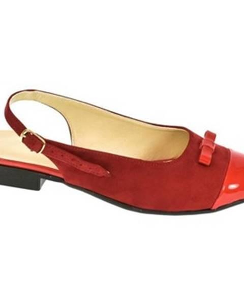 Červené sandále Just Mazzoni