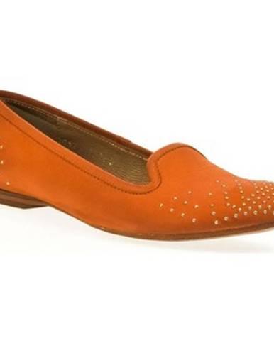 Oranžové balerínky Simen