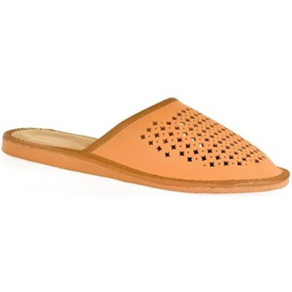 John-C Papuče John-C  Pánske hnedé papuče LUKY