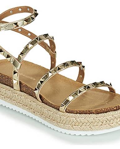 Zlaté sandále Steve Madden