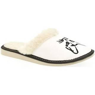 Papuče John-C  Dámske biele papuče KITTY