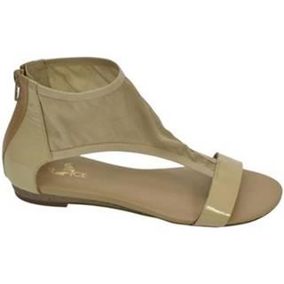 Sandále Robson  DÁMSKE BÉŽOVÉ NÍZKE SANDÁLE  G241