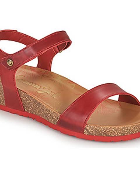 Červené sandále Panama Jack