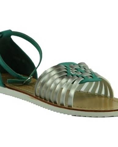 Zelené sandále Comer