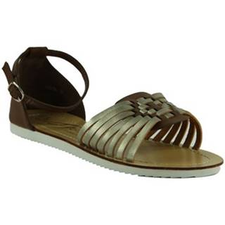 Sandále Comer  HNEDÉ NÍZKE SANDÁLE  DQ780