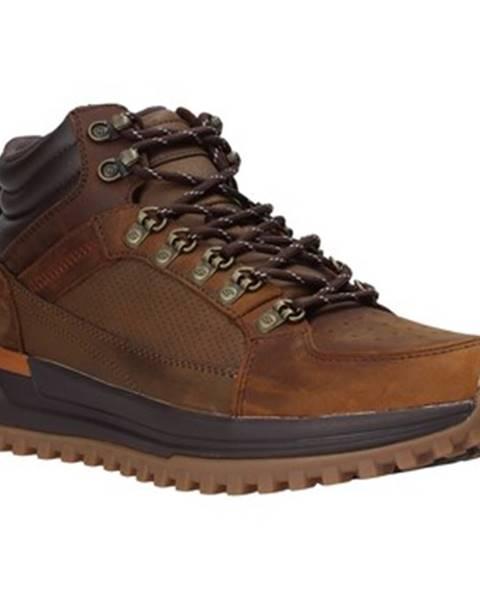 Hnedé topánky Skechers