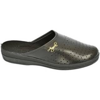 Nazuvky  Dámske čierne papuče ANGELA