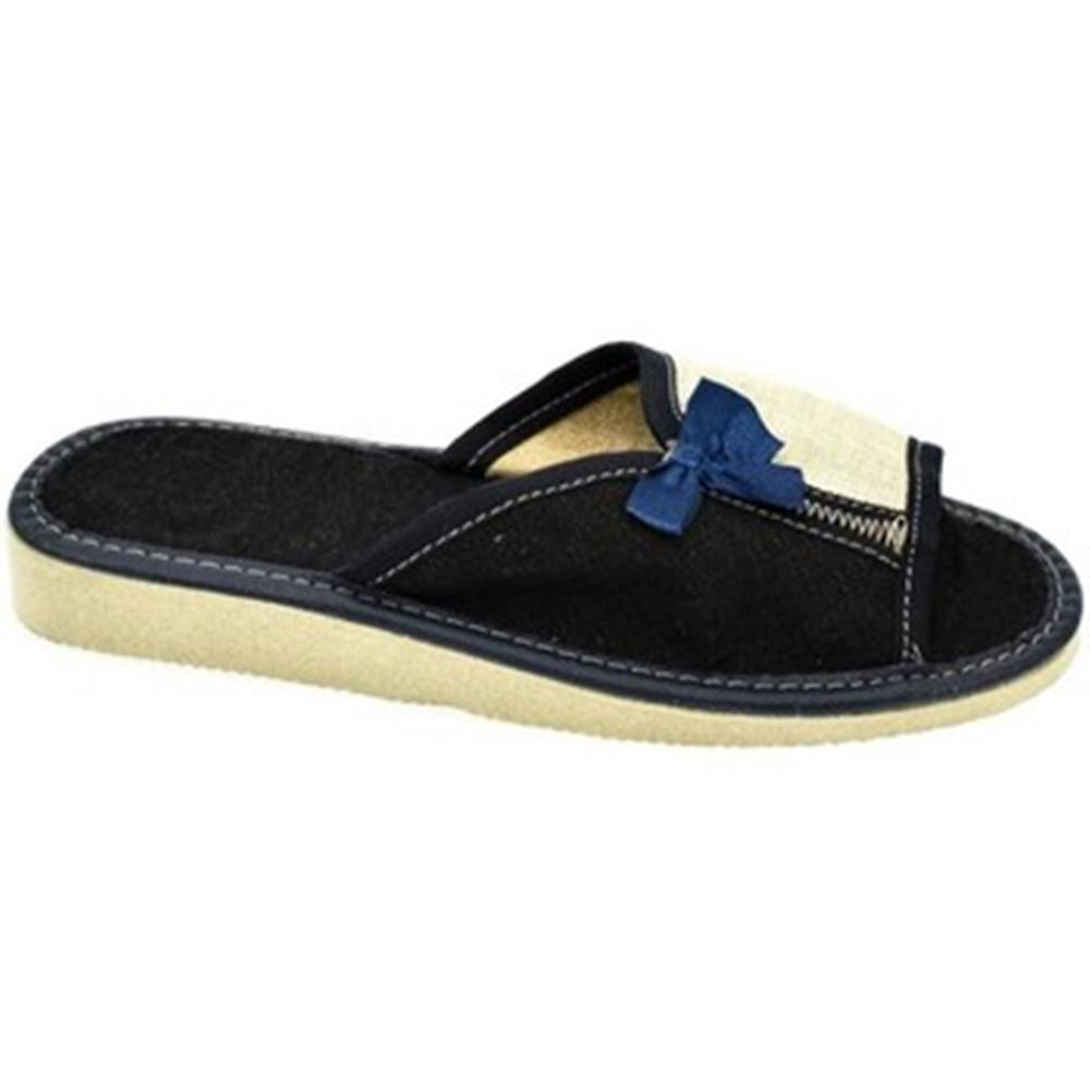 John-C Papuče John-C  Dámske modré papuče ISADORA