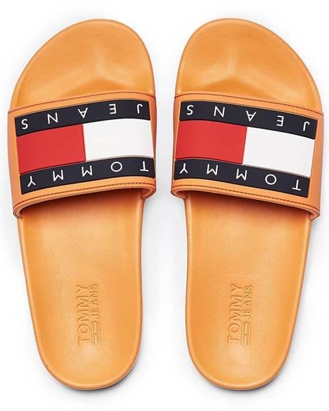 Oranžové papuče Tommy Hilfiger