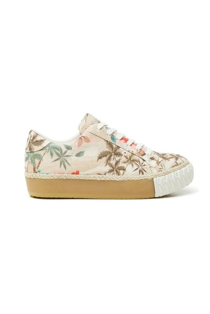 Desigual Desigual béžové tenisky Shoes Street Camoflowers