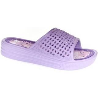 športové šľapky  Dámske fialové šľapky RABYA