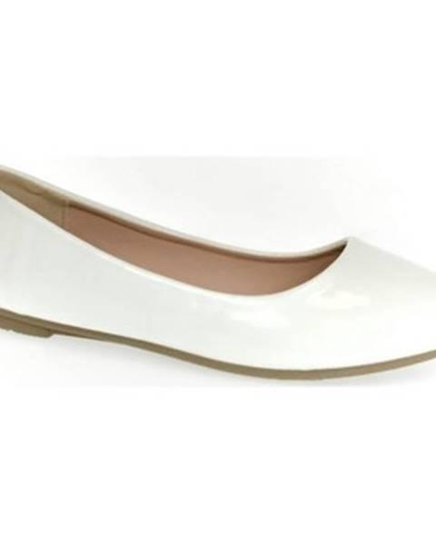 Biele balerínky Comer