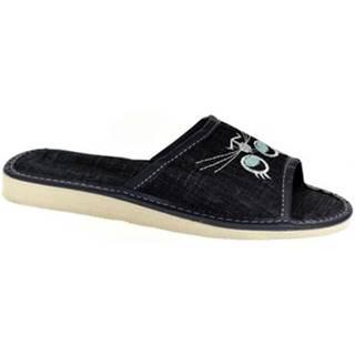 Papuče  Dámske tmavo-modré papuče CATTY