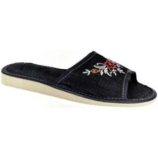Papuče  Dámske tmavo-modré papuče ELA