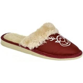 Papuče  Dámske bordové papuče SOBIK