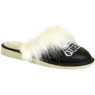 Papuče  Dámske čierne papuče QUEEN