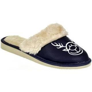 Papuče  Dámske tmavo-modré papuče SOBIK