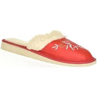 Papuče  Dámske červené papuče SILVANA