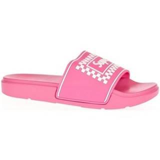 športové šľapky  Dámske ružové šľapky SUPER
