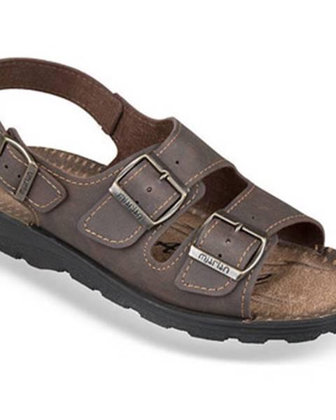Hnedé sandále Mjartan