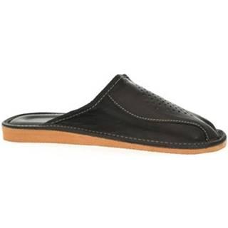 Papuče  Pánske čierne papuče OLAN