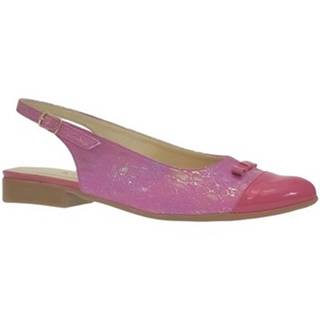 Sandále  Dámske tmavo-ružové sandále EVELINE