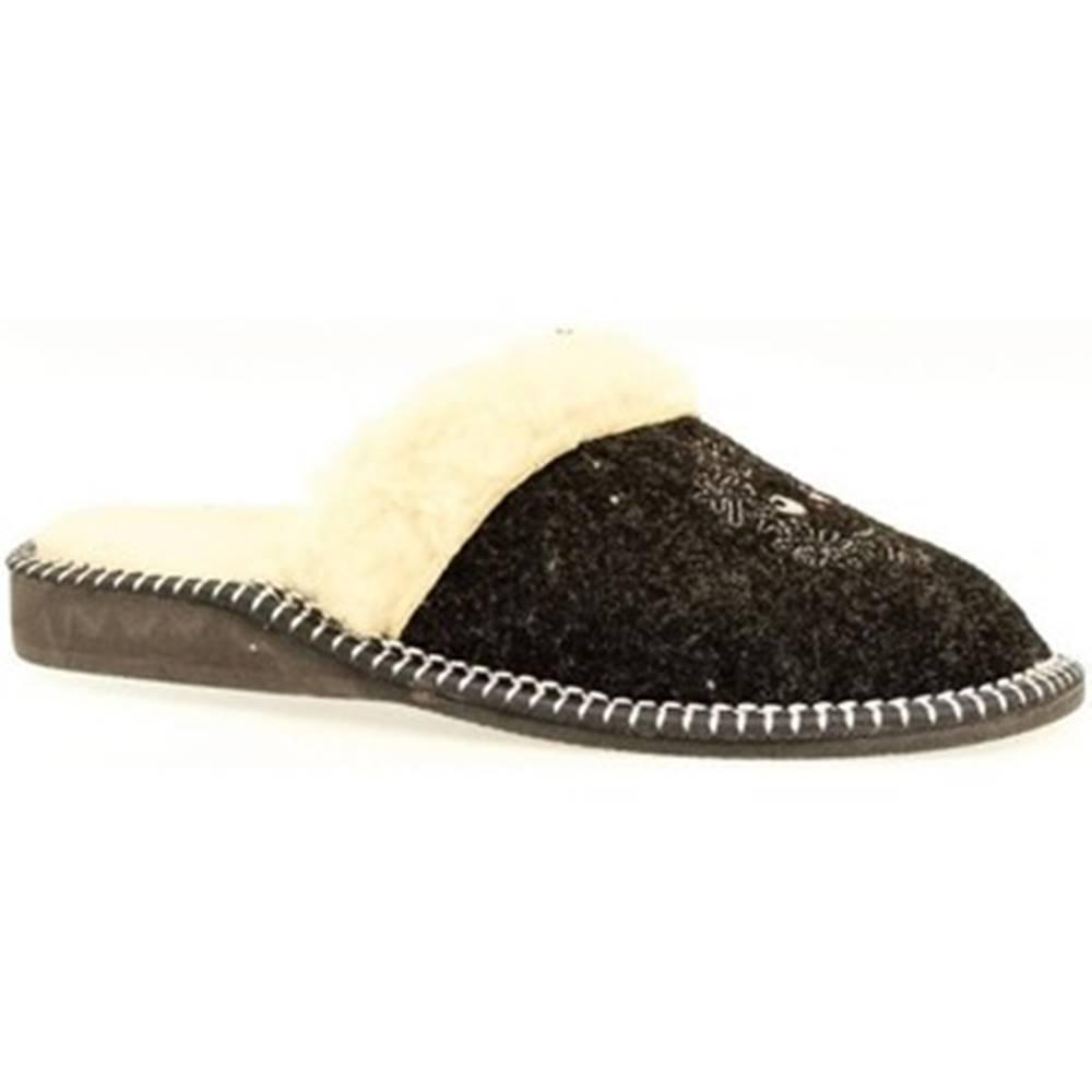 John-C Papuče  Dámske čierne papuče IVOA