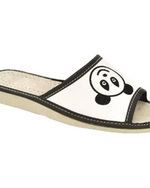 Biele papuče John-C