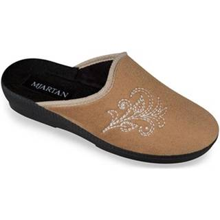 Papuče  Dámske béžové papuče  CAMILIA