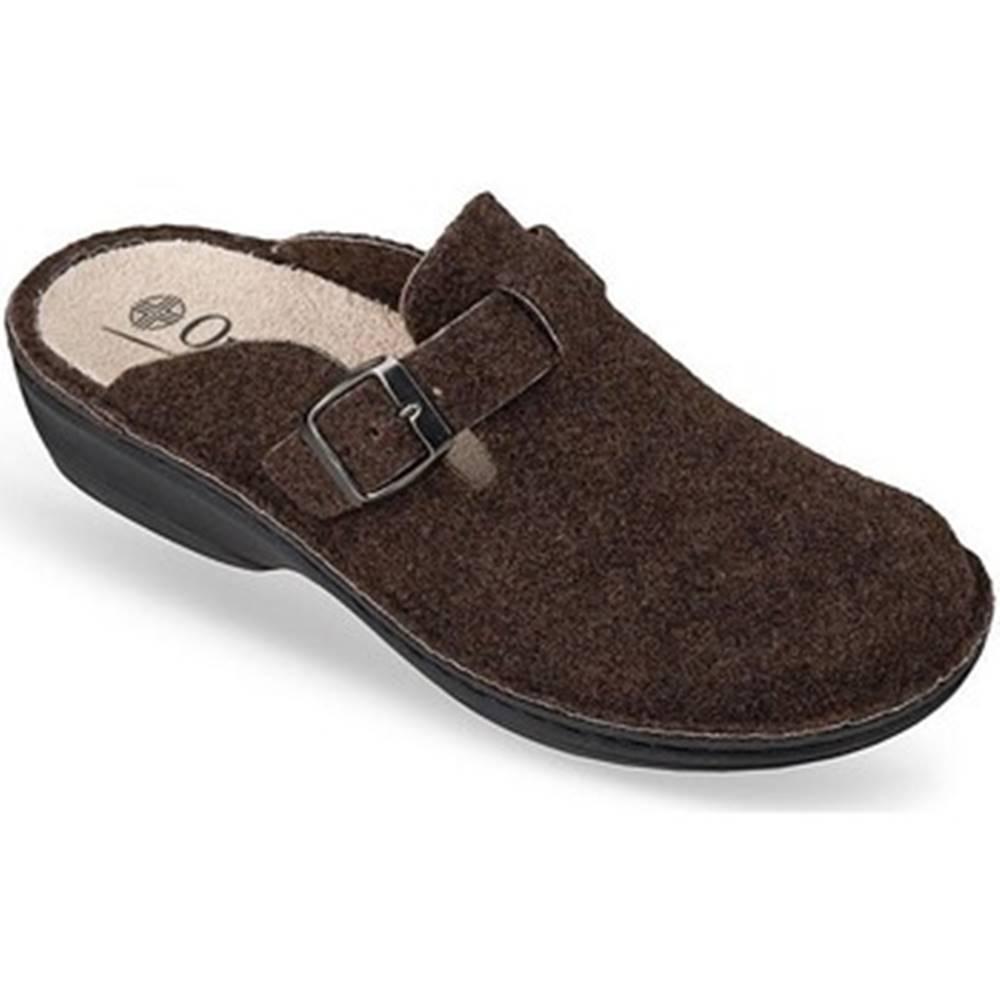 Mjartan Papuče  Dámske hnedé papuče  DORI